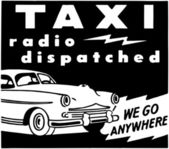 Taxi Radio Dispatched — Stock Vector
