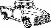 Pickup Truck — Stock Vector