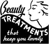 Beauty Treatments — Stock Vector