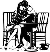 Romantic Embrace — Stock Vector