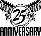 25th Anniversary Banner — Stock Vector