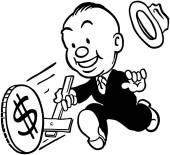 Money Wheel — Stock Vector