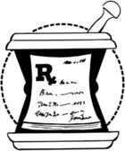 RX Pad On Mortar — Stockvector