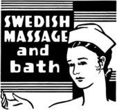 Swedish Massage And Bath — Stock Vector