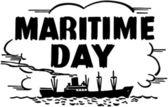 Maritime Day — Stock Vector