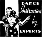 Dance Instruction — Stock Vector