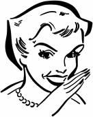 Gossiping Lady — Stock Vector