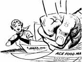 Fist Slamming Bills — Stock Vector