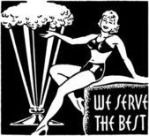 We Serve The Best — Vector de stock