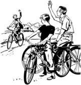 Biking Is Fun! — Stock Vector