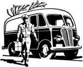 送货车 — 图库矢量图片