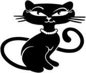 Retro Kitty — Stok Vektör