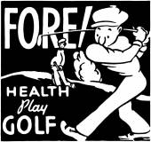 Fore Health Play Golf — Stock Vector