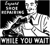 Shoe Repairing — Stock Vector