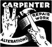Carpenter Repair Work — Stock Vector
