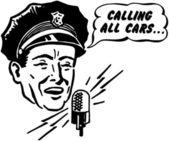 Police Dispatcher — Stock Vector