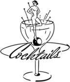 Cocktails Banner — Stock Vector