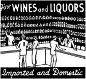 Fine Wines And Liquors — Stock Vector