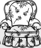 Cozy Arm Chair — Stock Vector