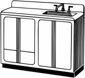 Sink retro — Stock Vector