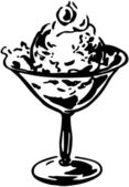 Dish Of Ice Cream — Cтоковый вектор