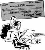 Loans retro — Stock Vector