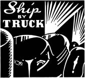 Ship By Truck — Stock Vector