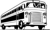 Retro Bus — Stock Vector