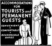 Accommodations For Tourists — Stock vektor