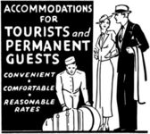 Accommodations For Tourists — ストックベクタ