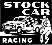Stock Car Racing — Stock Vector