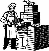 Brick Barbeque — Stock Vector