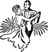 Nightclub Dance Couple — Stock Vector