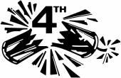 4th Firecracker Clipart Illustration — Stock Vector