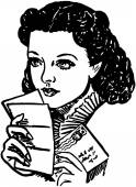 Scarletts Love Letter — 图库矢量图片