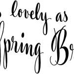 As Lovely As A Spring Bride — Stock Vector #55670613