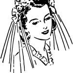 Lovely Bride — Stock Vector #55672227