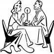Dining Couple — Stock Vector #55672599