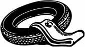 Tire With Tube — Stock vektor