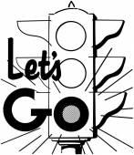 Let ' s Go feux tricolores — Vecteur