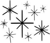 Retro Stars — Stock Vector