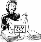 Shopping For Linens — Stock Vector