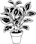 Retro Plant — Vector de stock