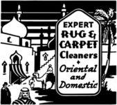 Expert Rug Cleaners — Stock Vector