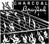 Charcoal Broiled — Stock Vector