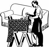 Furniture Upholstering — Stock Vector