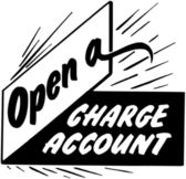 Open A Charge Account — Stockvector