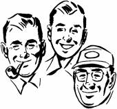 Three Swell Guys — Stock Vector