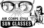Mens Air Corps Sunglasses — Stockvector