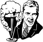 Beer Man — Stock Vector